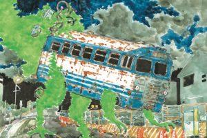 五十嵐大介さんの絵本『バスザウルス』原画展 青山ブックセンターで開催中 11月4日まで
