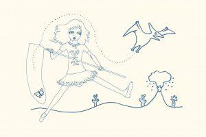 和田誠さんへのオマージュイラストレーション(第7回・宇野亞喜良さん)